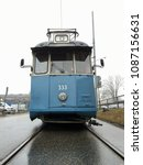 Small photo of STOCKHOLM, SWEDEN - 2 FEBRUARY 2017: A vintage tram stands in the street in Stockholm. Beginning with horse trams in 1877, the Stockholm tram network reached its largest extent in 1946. Editorial.