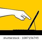 index finger using touchscreen   Shutterstock .eps vector #1087156745