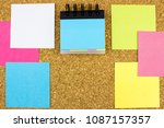 color empty office stickers...   Shutterstock . vector #1087157357