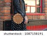 detail of young beautiful woman ... | Shutterstock . vector #1087158191