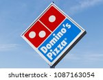peru   circa may 2018  domino's ... | Shutterstock . vector #1087163054