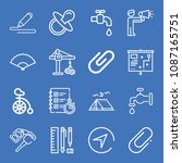set of 16 tool outline icons... | Shutterstock .eps vector #1087165751