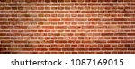 red brick wall or masonry  wide ... | Shutterstock . vector #1087169015