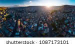 aerial panorama of the city of... | Shutterstock . vector #1087173101