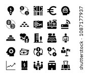 filled set of 25 business icons ... | Shutterstock .eps vector #1087177937