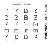set of folder and files vector... | Shutterstock .eps vector #1087180301