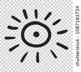 hand drawn sun vector icon. sun ...   Shutterstock .eps vector #1087183724