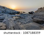 aegean seashore and marble... | Shutterstock . vector #1087188359