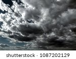 beautiful storm sky with clouds ... | Shutterstock . vector #1087202129