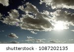 blue sky with clouds. white... | Shutterstock . vector #1087202135