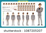 people character business set.... | Shutterstock .eps vector #1087205207