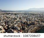drone aerial view on heraklion  ... | Shutterstock . vector #1087208657