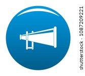 portable megaphone icon. simple ...   Shutterstock .eps vector #1087209221