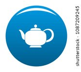 teapot with handle icon. simple ... | Shutterstock .eps vector #1087209245