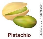 pistachio icon. realistic... | Shutterstock .eps vector #1087209521