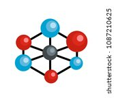 molecular lattice icon. flat... | Shutterstock .eps vector #1087210625