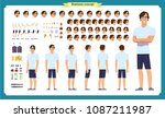 tourist male  vacation... | Shutterstock .eps vector #1087211987