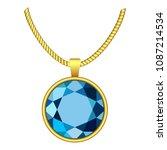 Aquamarine Necklace Icon....