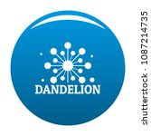 growing dandelion logo icon.... | Shutterstock .eps vector #1087214735