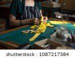 leather craft studio  woman... | Shutterstock . vector #1087217384