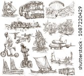 an hand drawn collection of... | Shutterstock . vector #1087220429