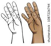 open hand vector illustration | Shutterstock .eps vector #1087226744