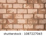 top view of brown paving brick... | Shutterstock . vector #1087227065