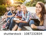 Group Of Young Students With...