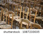 Pattern Of Brown Wooden Chairs...