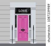 regency style london doorway   Shutterstock .eps vector #1087239989