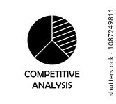 competitive analysis icon.... | Shutterstock .eps vector #1087249811
