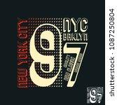 new york city brooklyn print... | Shutterstock .eps vector #1087250804