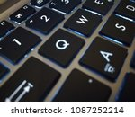 close up on a laptop keyboard... | Shutterstock . vector #1087252214