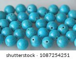 turquoise. natural turquoise... | Shutterstock . vector #1087254251