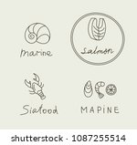 fish and seafood | Shutterstock .eps vector #1087255514