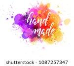 watercolor imitation splash... | Shutterstock .eps vector #1087257347