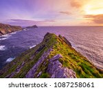 irish coast line at sunset  ... | Shutterstock . vector #1087258061