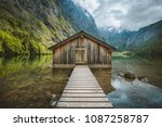 panoramic view traditional old... | Shutterstock . vector #1087258787