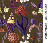 seamless pattern with wild... | Shutterstock .eps vector #1087264355
