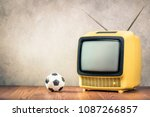 retro old outdated yellow tube... | Shutterstock . vector #1087266857