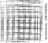 grunge chalk distressed vector... | Shutterstock .eps vector #1087268381