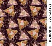 modern triangles geometric... | Shutterstock .eps vector #1087268501