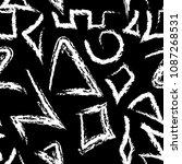 native aztec style tribal... | Shutterstock .eps vector #1087268531