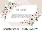vector floral design card.... | Shutterstock .eps vector #1087268894