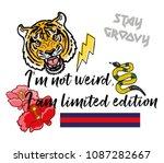 """lettering set phrase """"i'm not...   Shutterstock .eps vector #1087282667"""