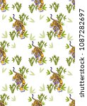 seamless pattern beauty fashion ... | Shutterstock .eps vector #1087282697