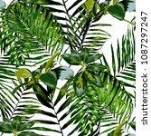 watercolor seamless pattern... | Shutterstock .eps vector #1087297247