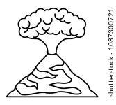 erupting volcano natural...   Shutterstock .eps vector #1087300721