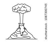 erupting volcano natural...   Shutterstock .eps vector #1087300745