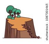 landslide disaster scene icon   Shutterstock .eps vector #1087301465